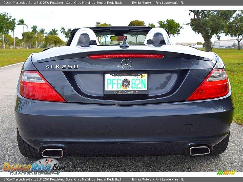 2014 Mercedes-Benz SLK 250 Roadster Steel Grey Metallic / Bengal Red/Black Photo #26