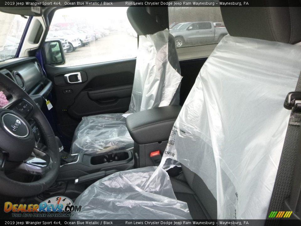 2019 Jeep Wrangler Sport 4x4 Ocean Blue Metallic / Black Photo #14