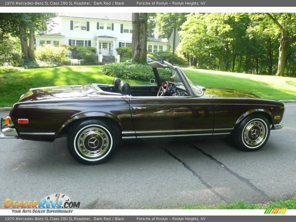 1970 mercedes benz sl class 280 sl roadster dark red. Black Bedroom Furniture Sets. Home Design Ideas