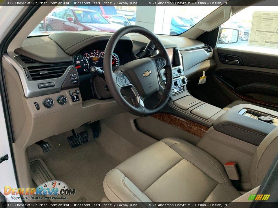 2019 Chevrolet Suburban Premier 4WD Iridescent Pearl Tricoat / Cocoa/Dune Photo #6