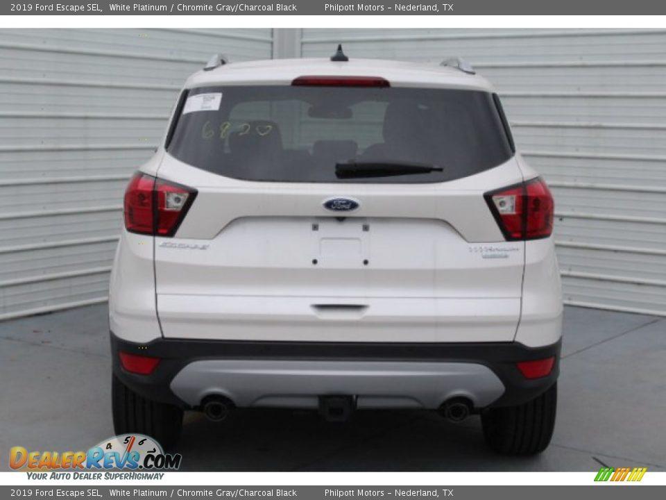 2019 Ford Escape SEL White Platinum / Chromite Gray/Charcoal Black Photo #7