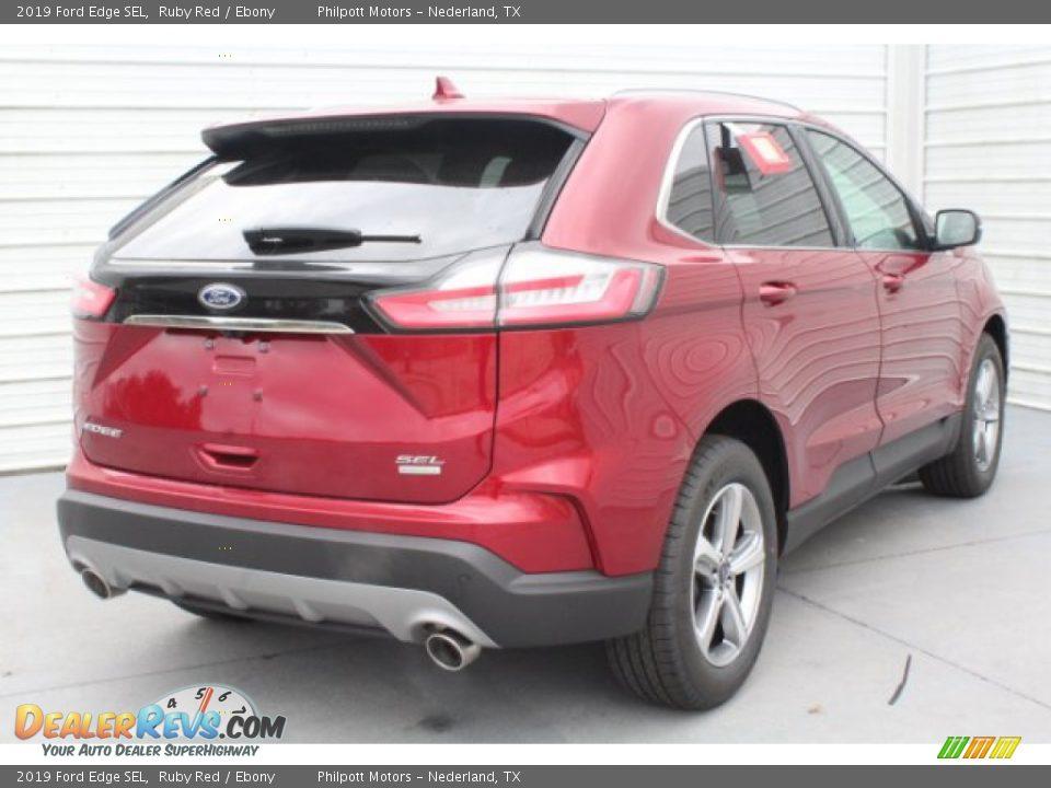 2019 Ford Edge SEL Ruby Red / Ebony Photo #8