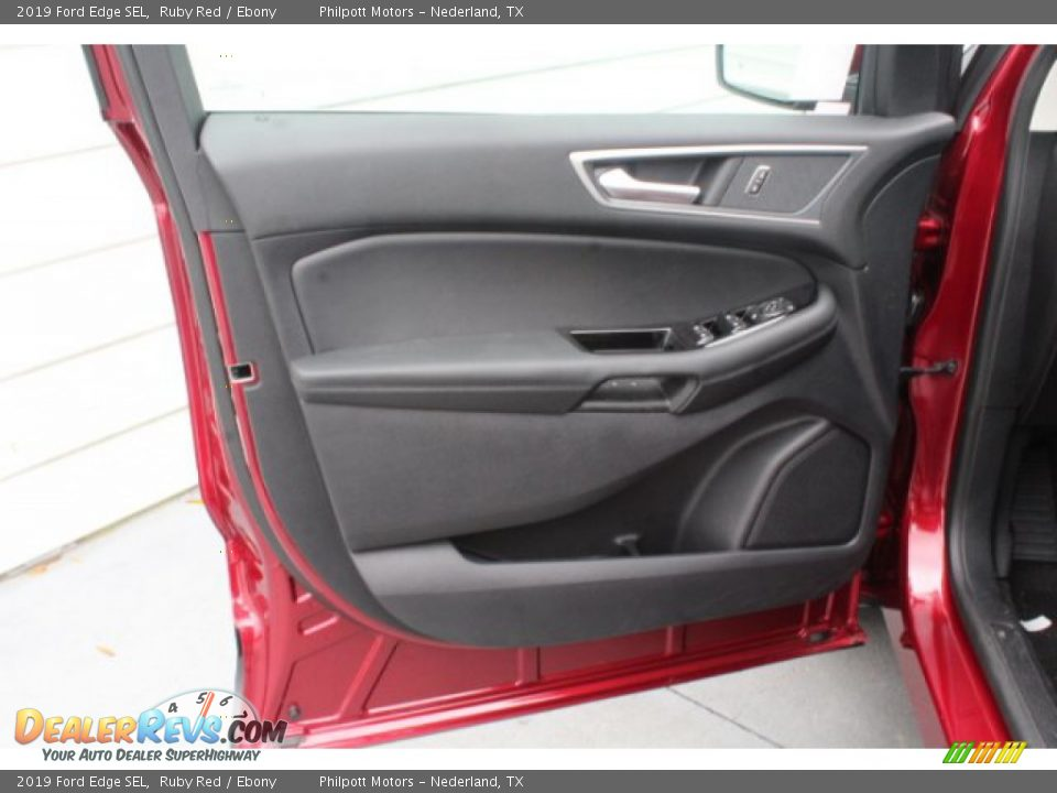 2019 Ford Edge SEL Ruby Red / Ebony Photo #9