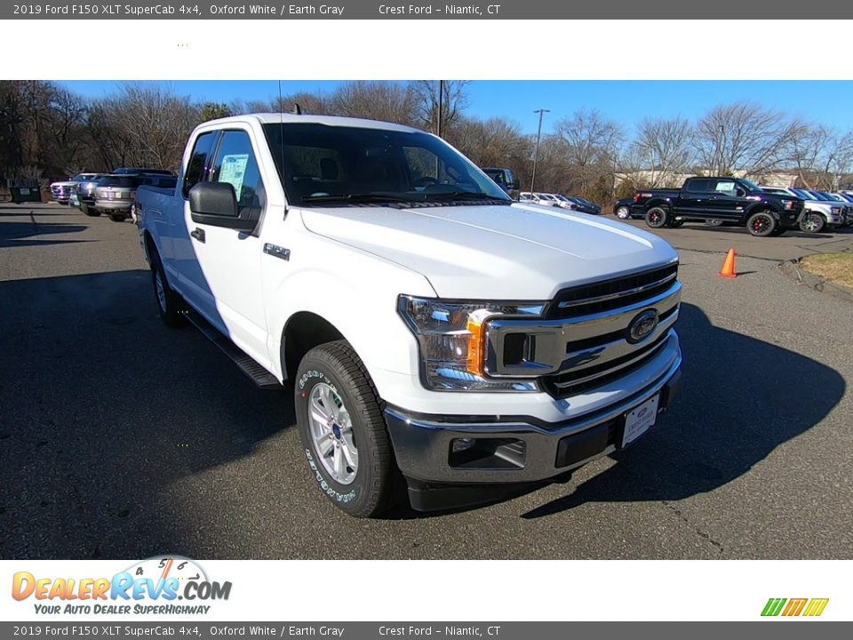 2019 Ford F150 XLT SuperCab 4x4 Oxford White / Earth Gray Photo #1