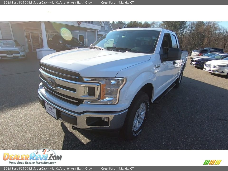 2019 Ford F150 XLT SuperCab 4x4 Oxford White / Earth Gray Photo #3