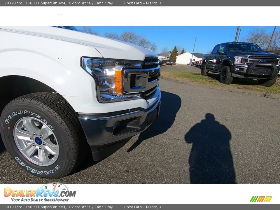 2019 Ford F150 XLT SuperCab 4x4 Oxford White / Earth Gray Photo #27