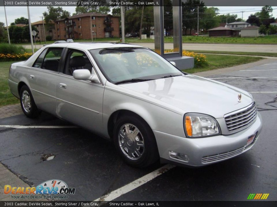 2003 cadillac deville sedan sterling silver dark gray. Cars Review. Best American Auto & Cars Review