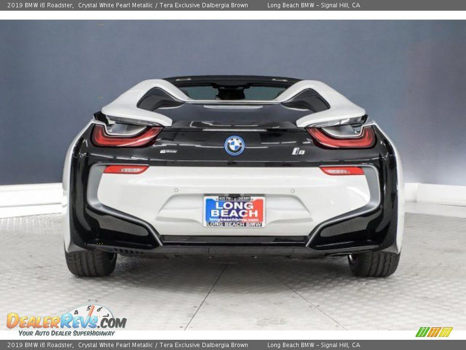 2019 BMW I8 Roadster Crystal White Pearl Metallic / Tera Exclusive Dalbergia Brown Photo #3