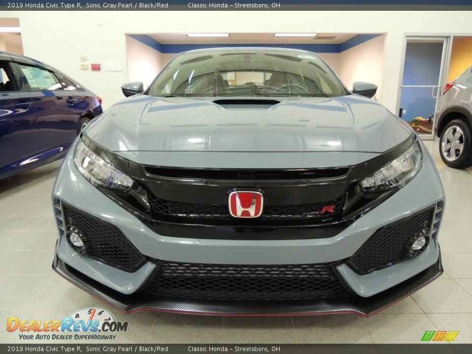 2019 Honda Civic Type R Sonic Gray Pearl / Black/Red Photo #2