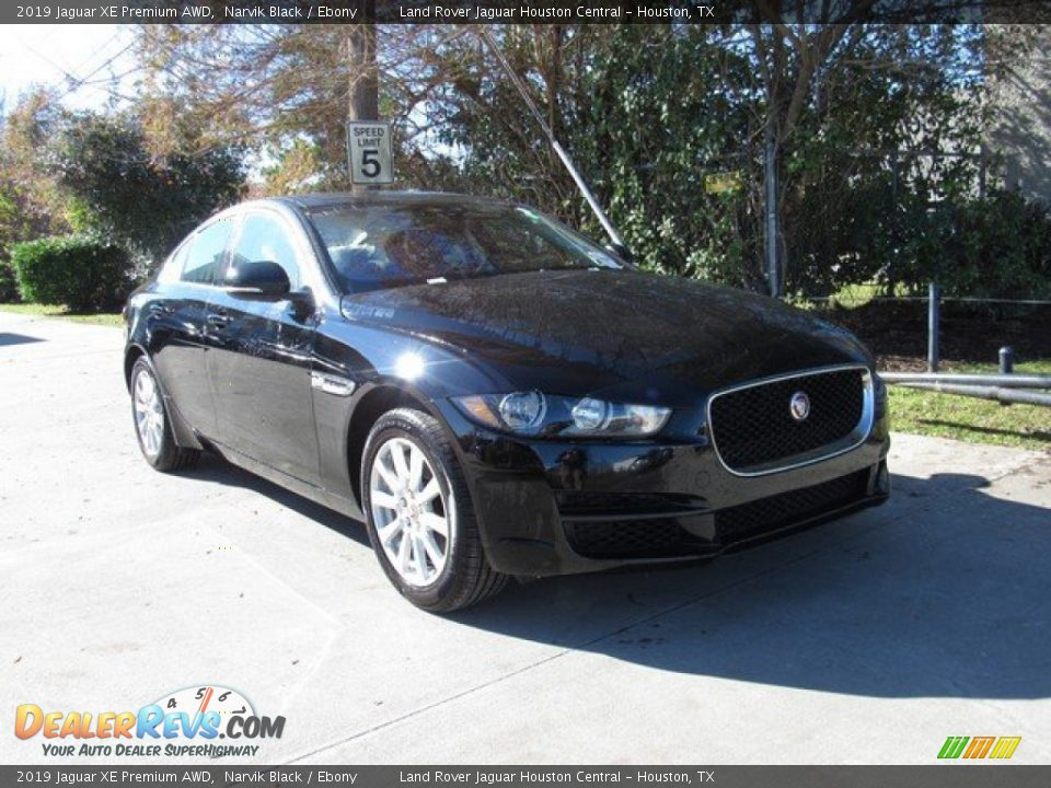 2019 Jaguar XE Premium AWD Narvik Black / Ebony Photo #2
