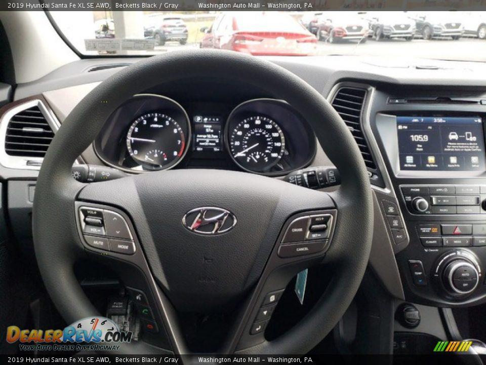 2019 Hyundai Santa Fe XL SE AWD Steering Wheel Photo #18