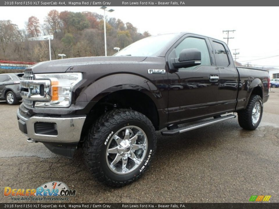2018 Ford F150 XLT SuperCab 4x4 Magma Red / Earth Gray Photo #6