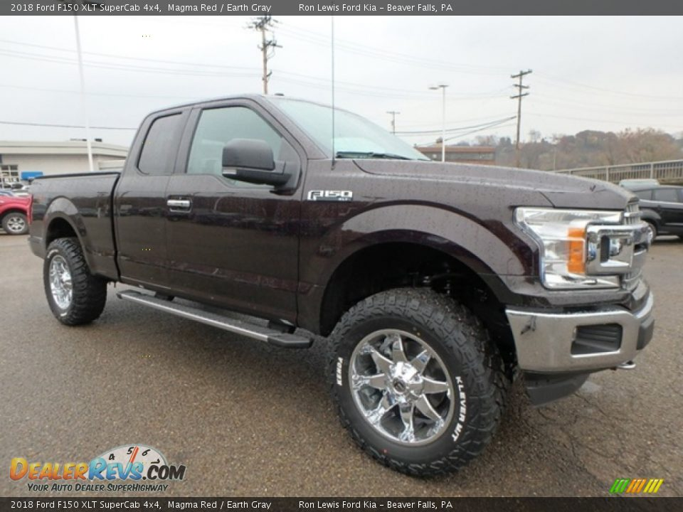 2018 Ford F150 XLT SuperCab 4x4 Magma Red / Earth Gray Photo #8