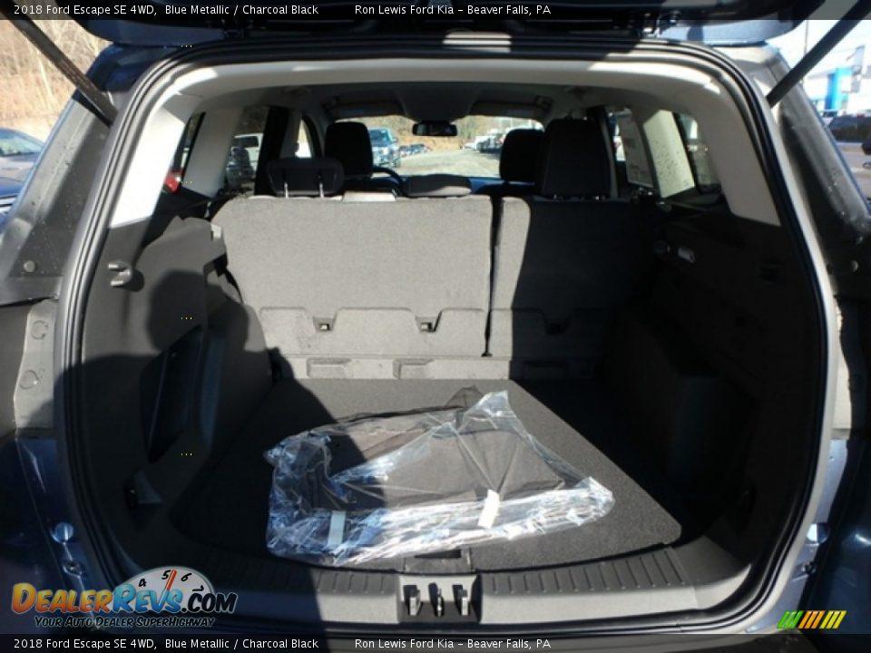 2018 Ford Escape SE 4WD Blue Metallic / Charcoal Black Photo #4