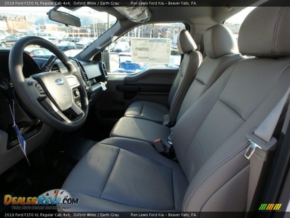2019 Ford F150 XL Regular Cab 4x4 Oxford White / Earth Gray Photo #12
