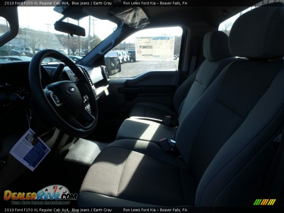 2019 Ford F150 XL Regular Cab 4x4 Blue Jeans / Earth Gray Photo #12