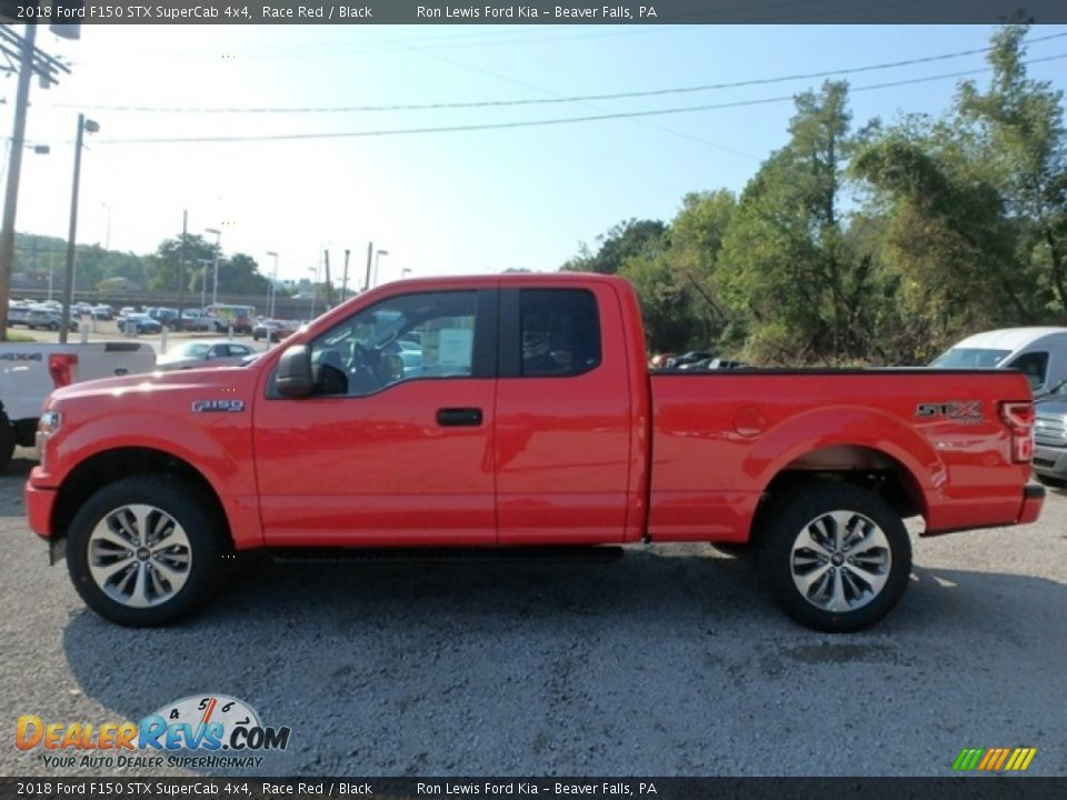 2018 Ford F150 STX SuperCab 4x4 Race Red / Black Photo #5