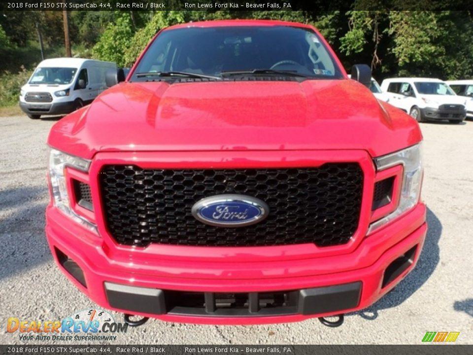 2018 Ford F150 STX SuperCab 4x4 Race Red / Black Photo #7