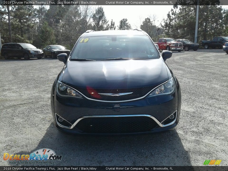 2019 Chrysler Pacifica Touring L Plus Jazz Blue Pearl / Black/Alloy Photo #8