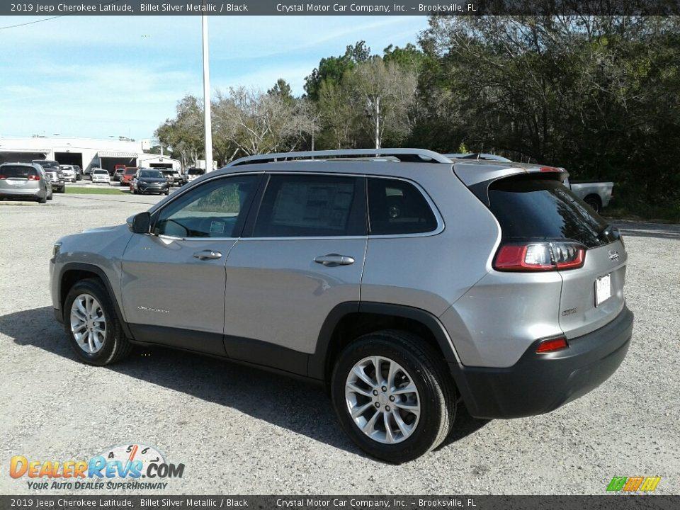 2019 Jeep Cherokee Latitude Billet Silver Metallic / Black Photo #3