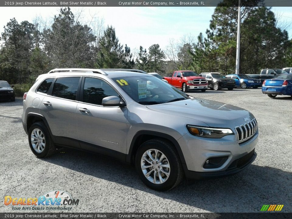 2019 Jeep Cherokee Latitude Billet Silver Metallic / Black Photo #7