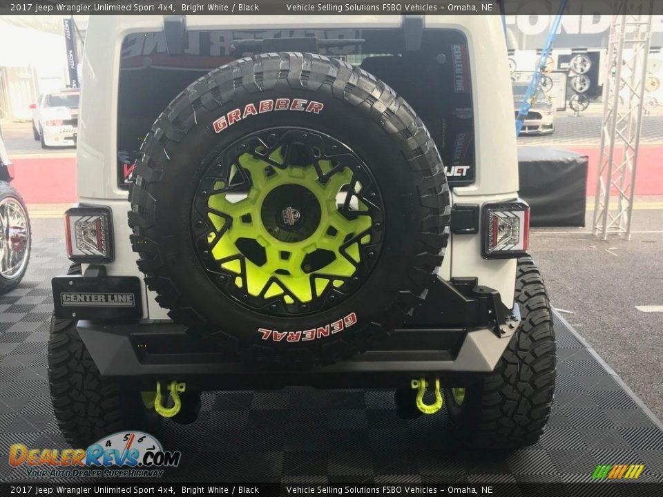 2017 Jeep Wrangler Unlimited Sport 4x4 Bright White / Black Photo #5