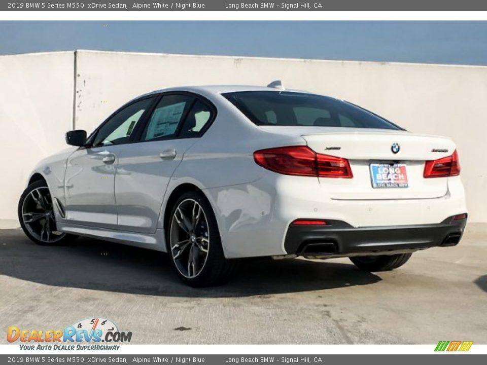 2019 BMW 5 Series M550i xDrive Sedan Alpine White / Night Blue Photo #3