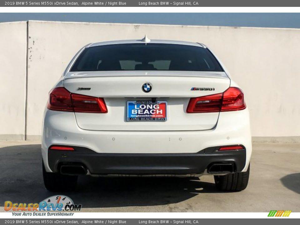2019 BMW 5 Series M550i xDrive Sedan Alpine White / Night Blue Photo #4