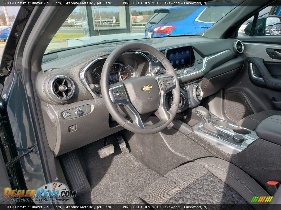 Jet Black Interior - 2019 Chevrolet Blazer 2.5L Cloth Photo #7