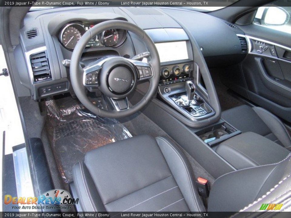 Ebony Interior - 2019 Jaguar F-Type R-Dynamic Coupe Photo #4