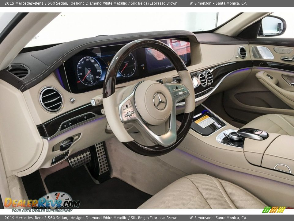 2019 Mercedes-Benz S 560 Sedan designo Diamond White Metallic / Silk Beige/Espresso Brown Photo #4