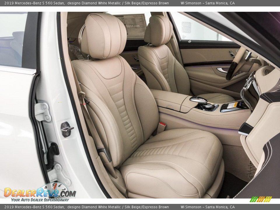 2019 Mercedes-Benz S 560 Sedan designo Diamond White Metallic / Silk Beige/Espresso Brown Photo #5