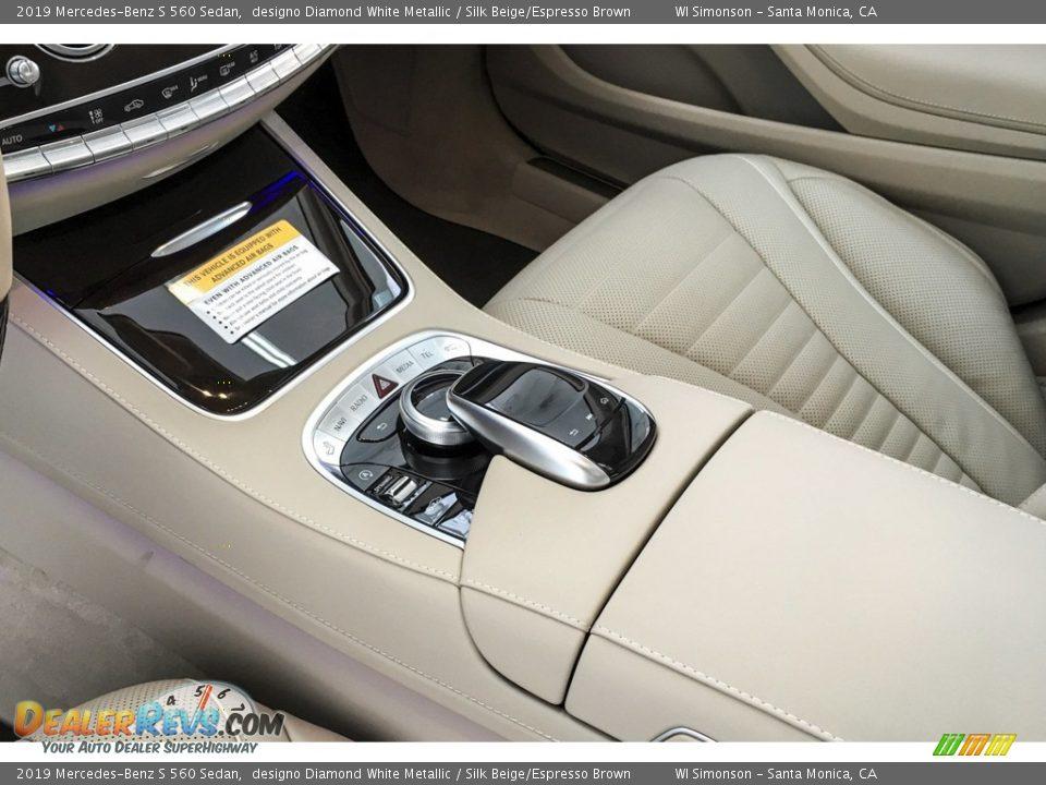 2019 Mercedes-Benz S 560 Sedan designo Diamond White Metallic / Silk Beige/Espresso Brown Photo #7