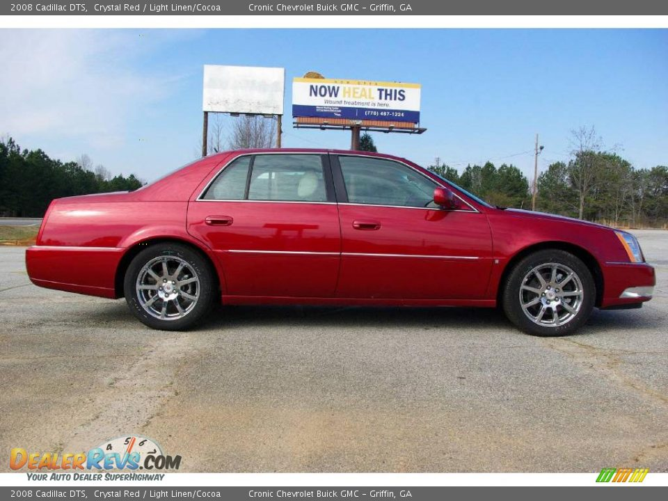 2008 Cadillac DTS Crystal Red / Light Linen/Cocoa Photo #5