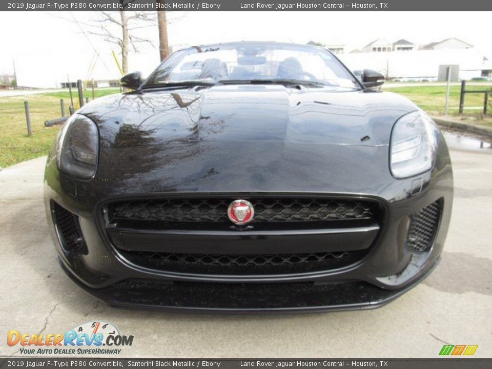 2019 Jaguar F-Type P380 Convertible Santorini Black Metallic / Ebony Photo #9