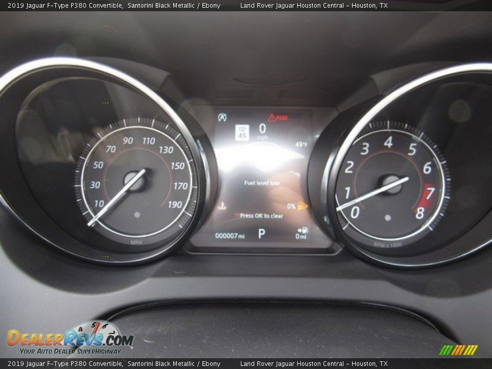 2019 Jaguar F-Type P380 Convertible Gauges Photo #24