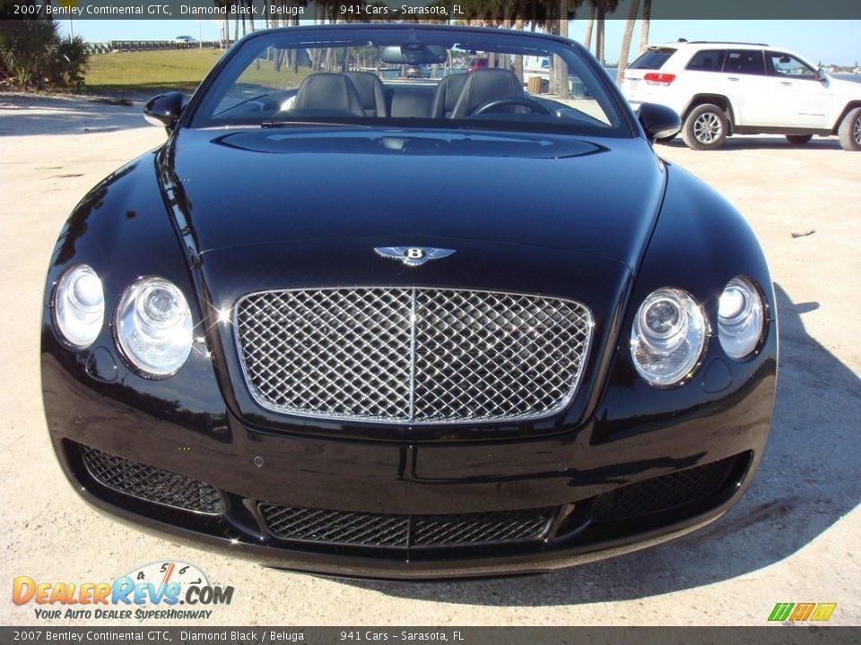 2007 Bentley Continental GTC Diamond Black / Beluga Photo #2