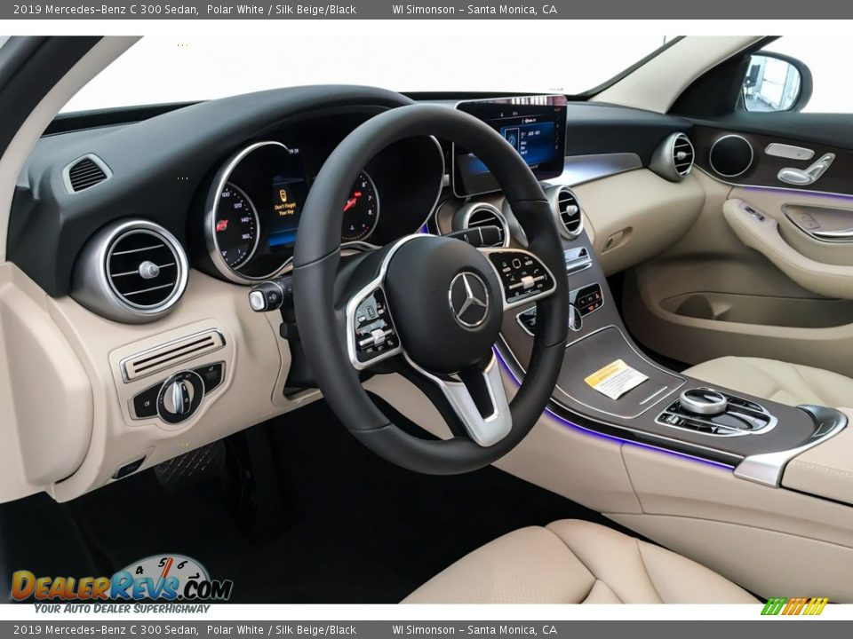 2019 Mercedes-Benz C 300 Sedan Polar White / Silk Beige/Black Photo #4