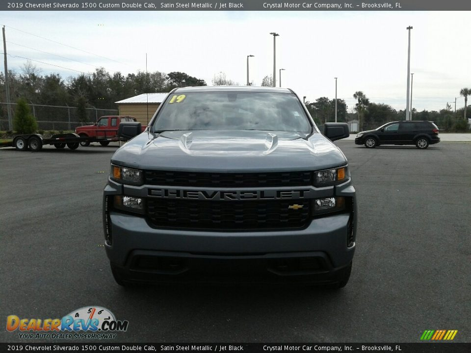 2019 Chevrolet Silverado 1500 Custom Double Cab Satin Steel Metallic / Jet Black Photo #8