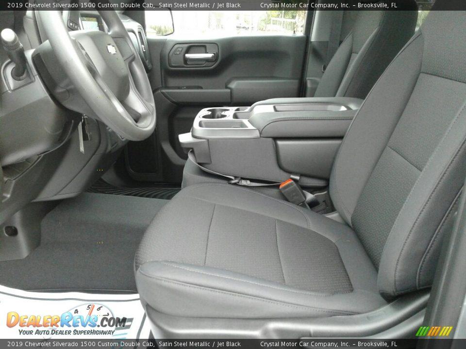 2019 Chevrolet Silverado 1500 Custom Double Cab Satin Steel Metallic / Jet Black Photo #9