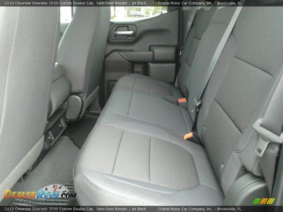 2019 Chevrolet Silverado 1500 Custom Double Cab Satin Steel Metallic / Jet Black Photo #10