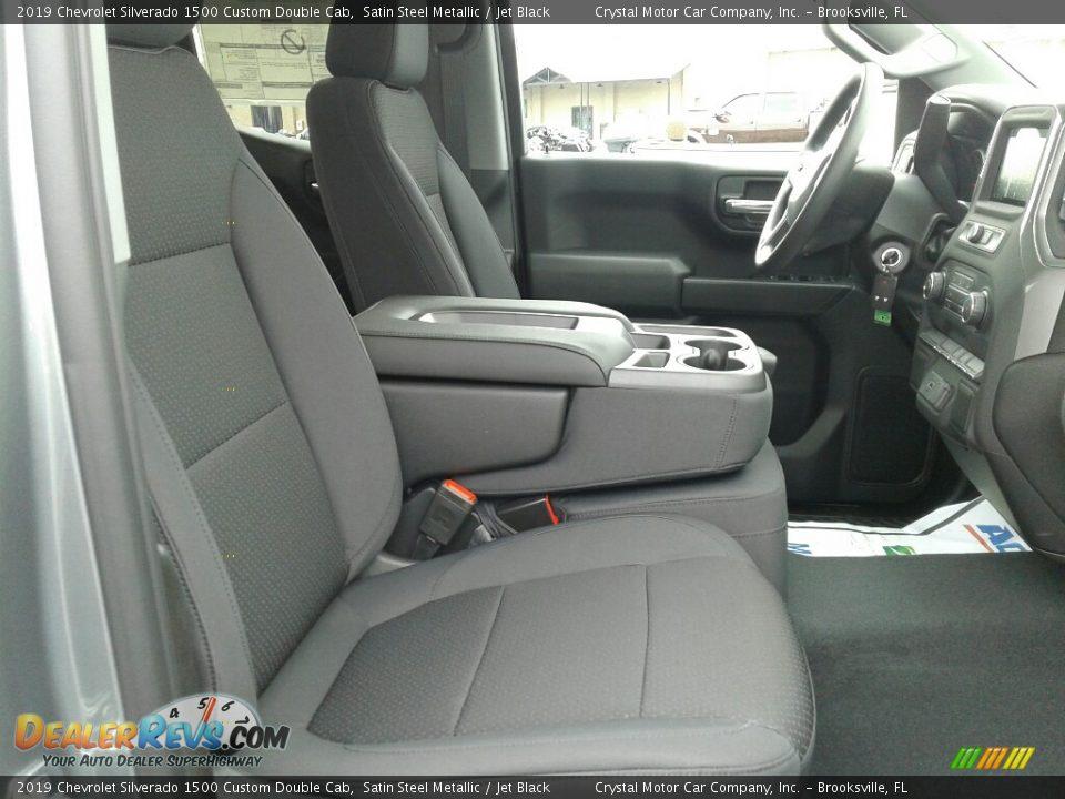 2019 Chevrolet Silverado 1500 Custom Double Cab Satin Steel Metallic / Jet Black Photo #12