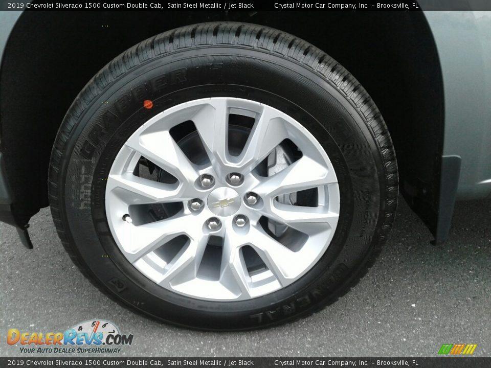 2019 Chevrolet Silverado 1500 Custom Double Cab Satin Steel Metallic / Jet Black Photo #20
