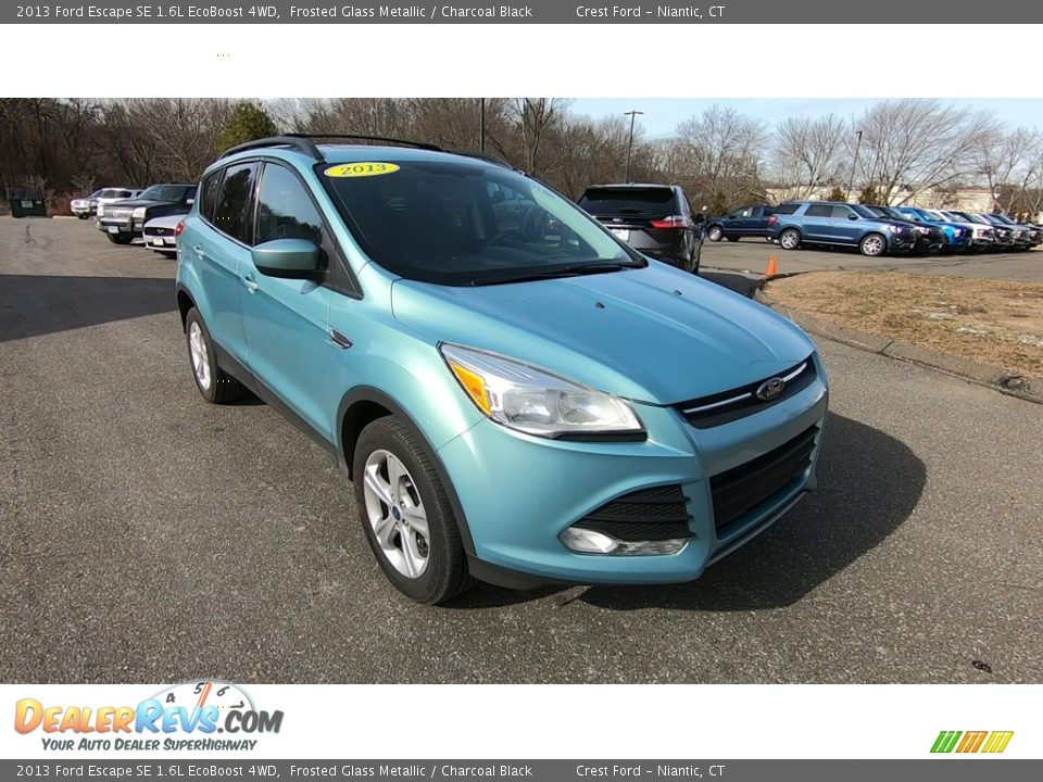2013 Ford Escape SE 1.6L EcoBoost 4WD Frosted Glass Metallic / Charcoal Black Photo #1
