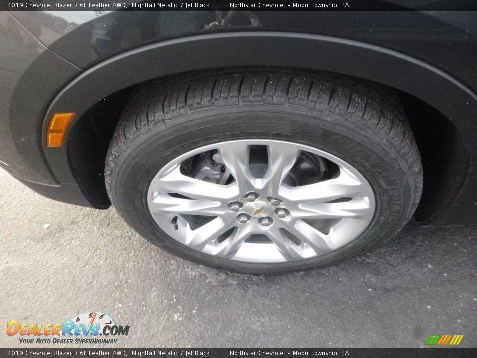 2019 Chevrolet Blazer 3.6L Leather AWD Nightfall Metallic / Jet Black Photo #2