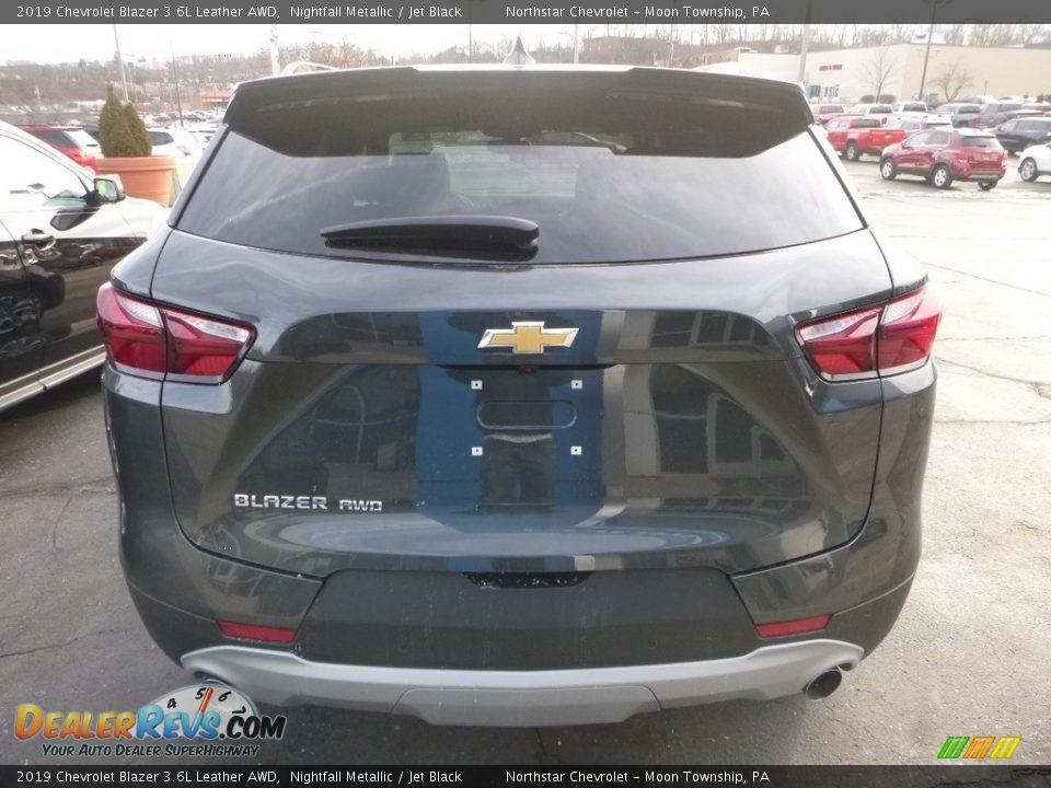 2019 Chevrolet Blazer 3.6L Leather AWD Nightfall Metallic / Jet Black Photo #4