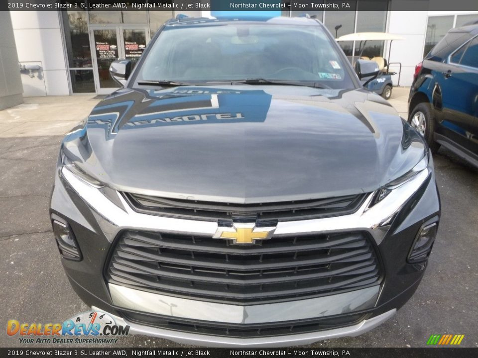 2019 Chevrolet Blazer 3.6L Leather AWD Nightfall Metallic / Jet Black Photo #8