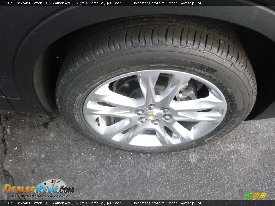 2019 Chevrolet Blazer 3.6L Leather AWD Nightfall Metallic / Jet Black Photo #9
