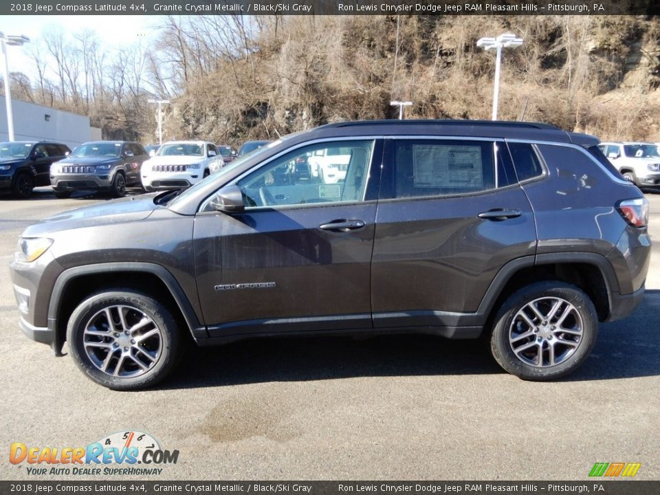 2018 Jeep Compass Latitude 4x4 Granite Crystal Metallic / Black/Ski Gray Photo #2