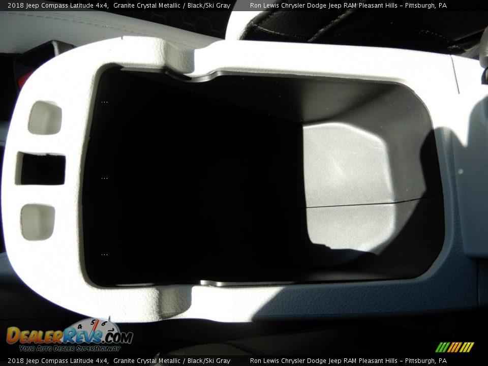 2018 Jeep Compass Latitude 4x4 Granite Crystal Metallic / Black/Ski Gray Photo #18